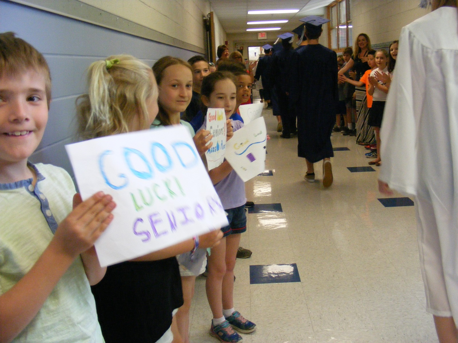 Graduate March at GES - Class of 2016