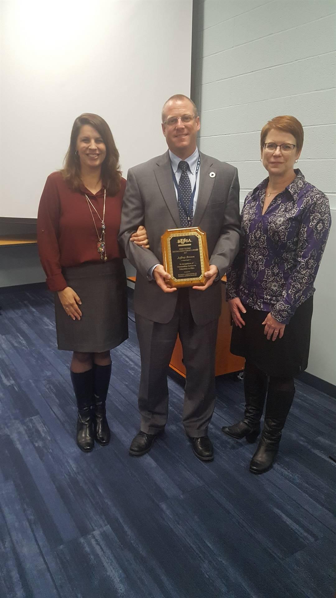 Superintendent Jeff Brown Received Jerry Klenke Distinguished Service Award