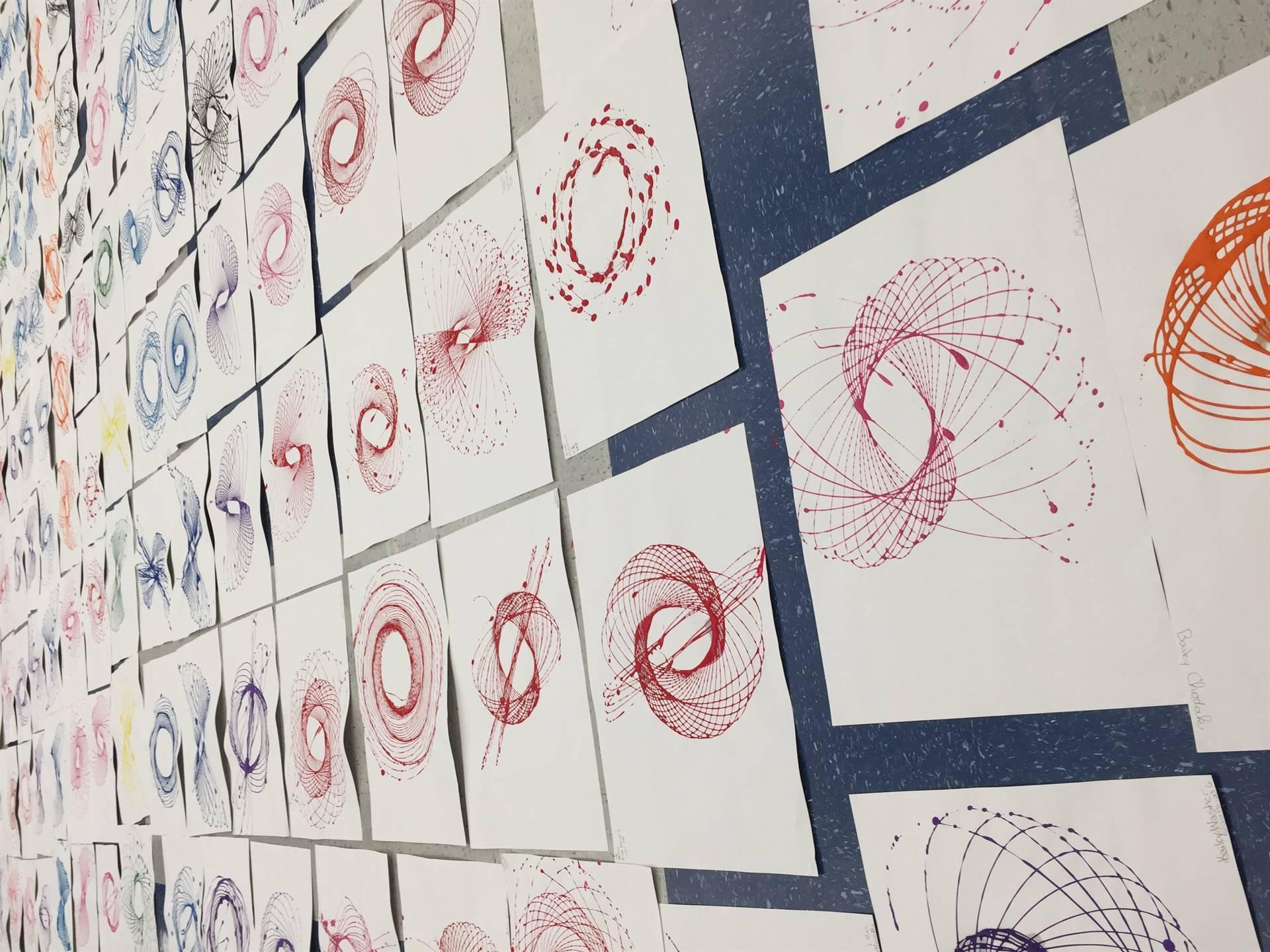 GIS 6th Graders Integrate Science & Art in Pendulum Designs