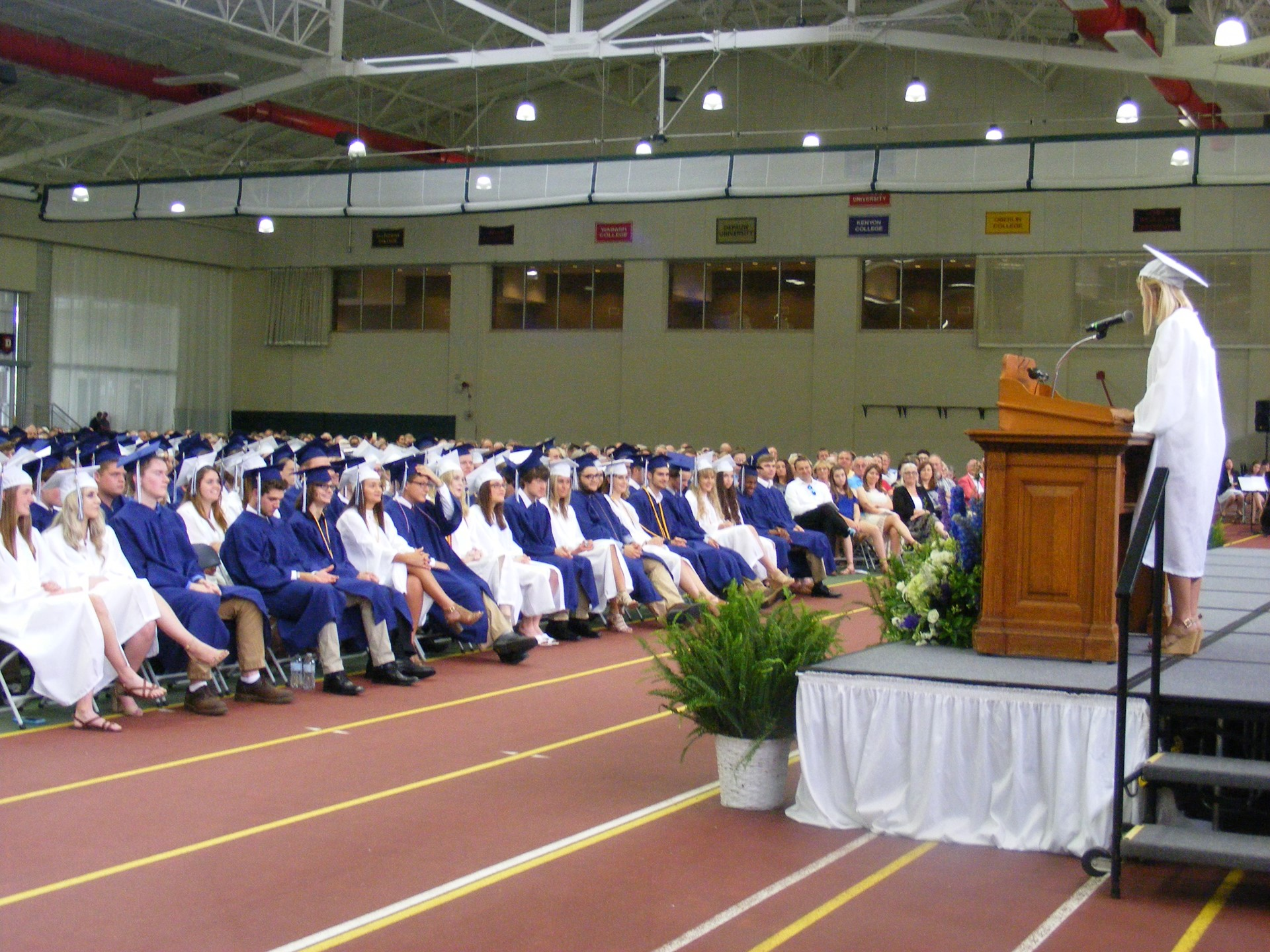 Student Speakers Address Their Class