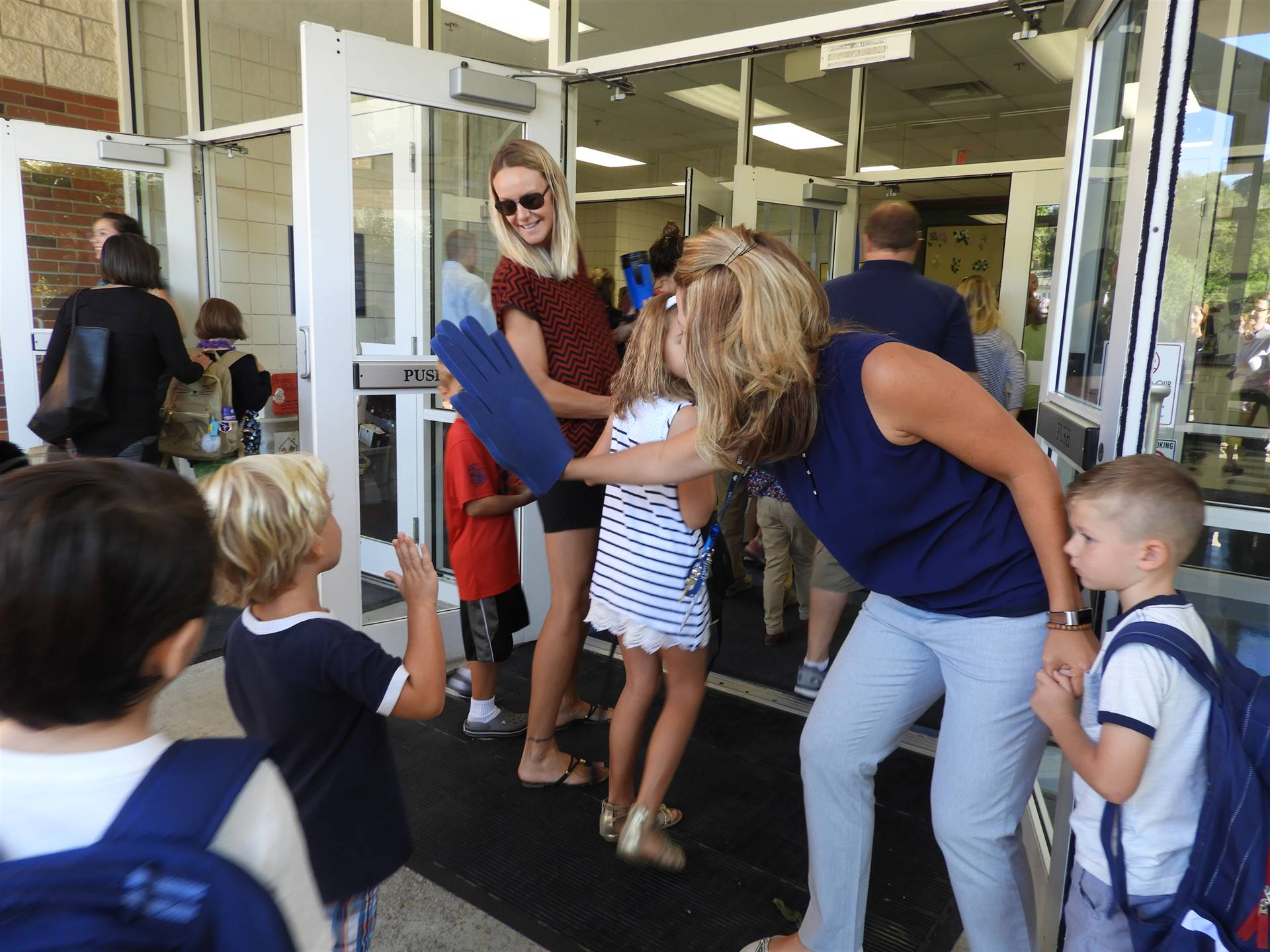First Day High-Fives at GES