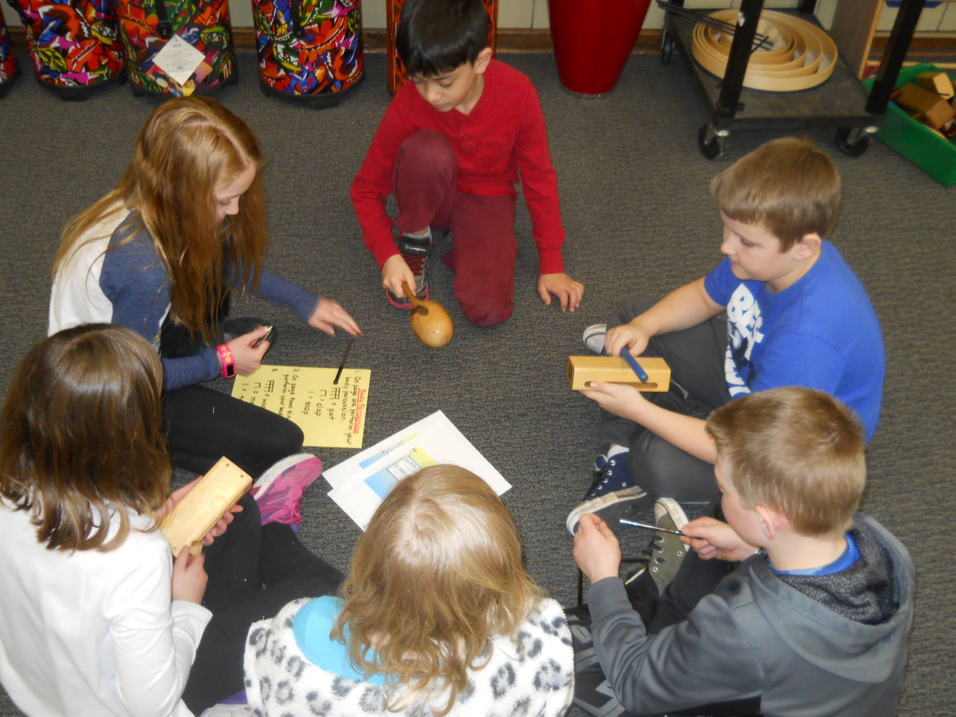 GES 2nd-graders Writing the Rhythm in Music Class