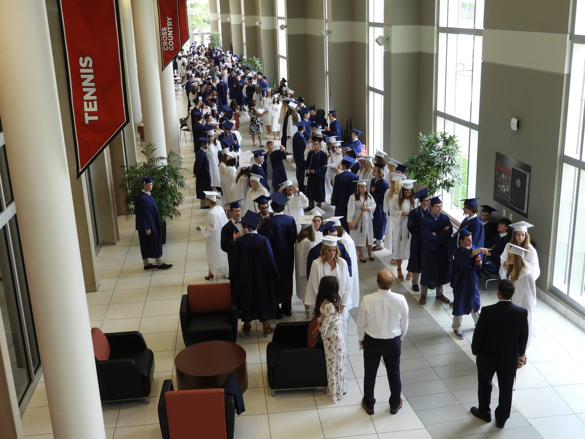Class of 2018 - Graduates Line Up for Processional