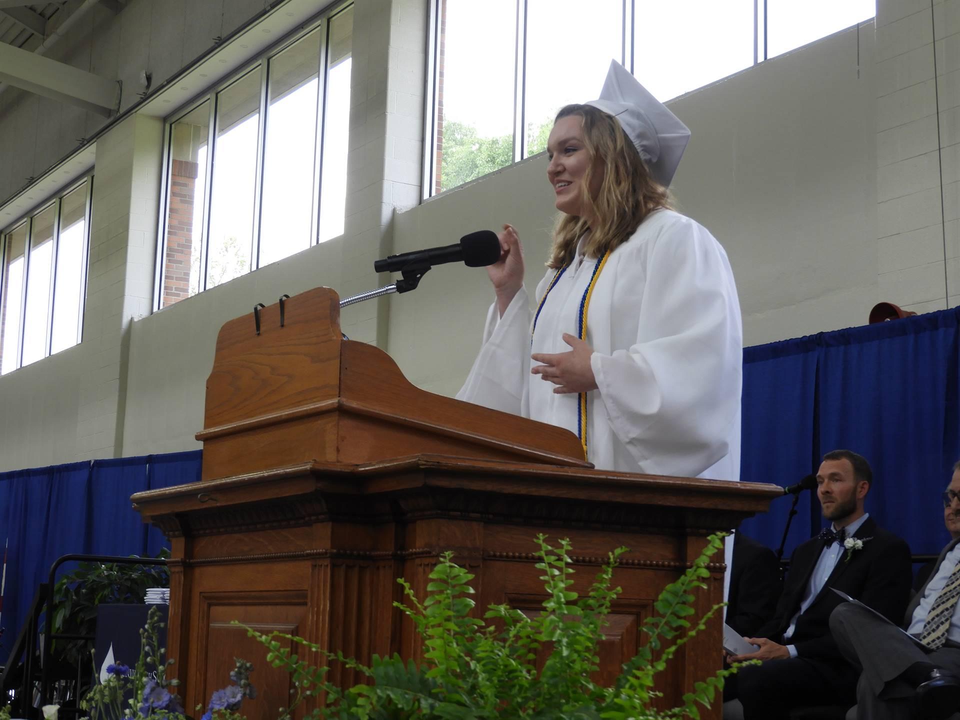 Commencement Speaker Kelsey Bittel