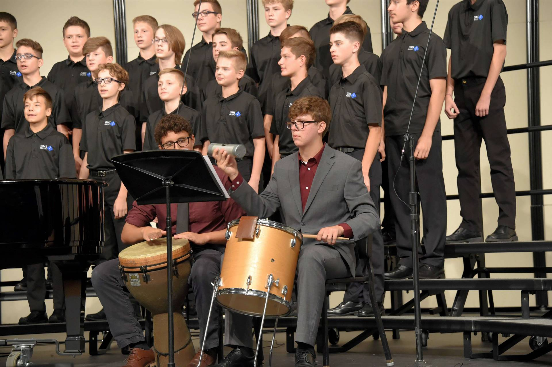GMS Boys Choir with Percussionists