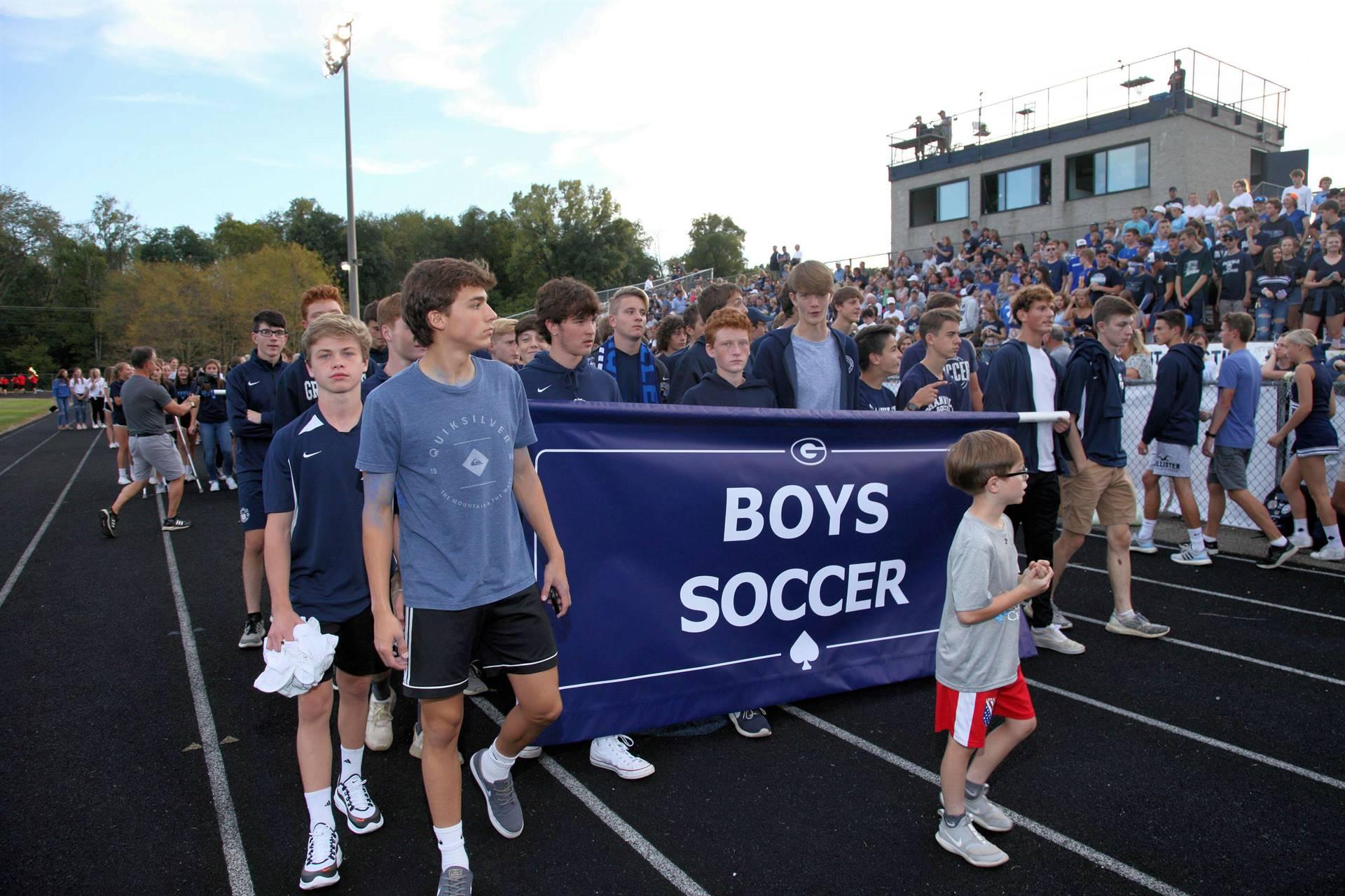 Boys Soccer in Homecoming Parade