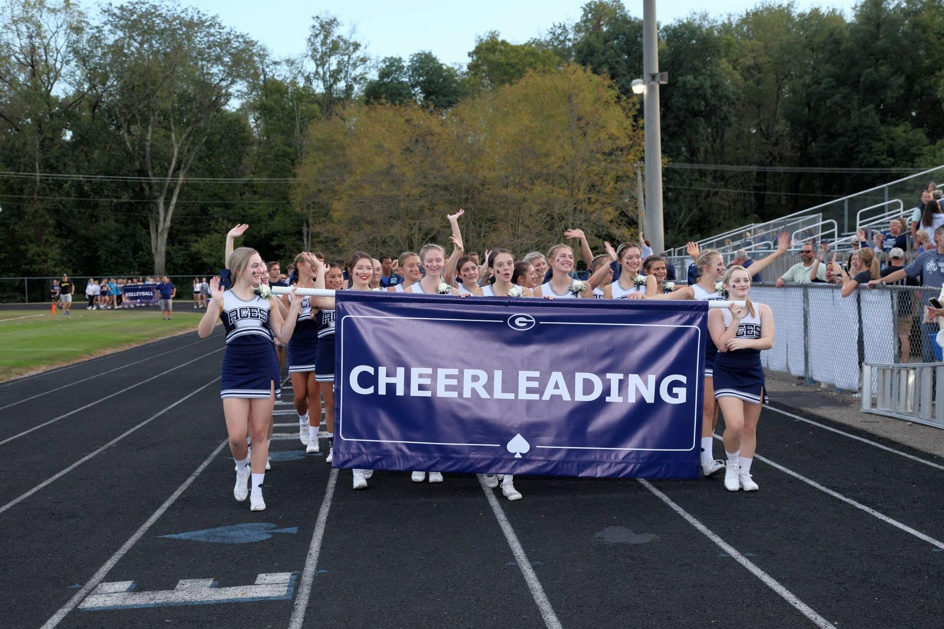 Cheerleaders in Homecoming Parade