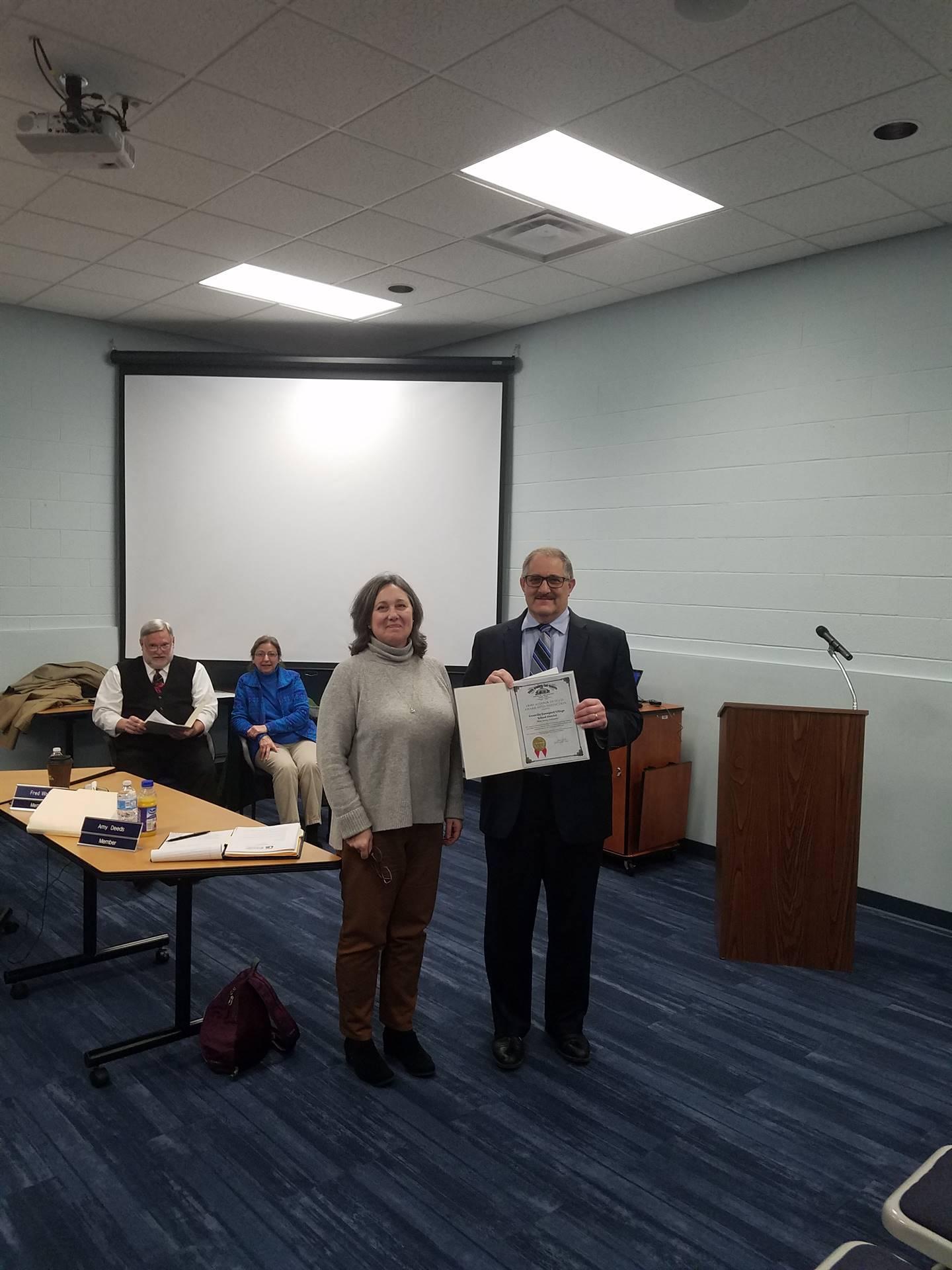 Treasurer Mike Sobul and Asst. Treasurer Tina Washka