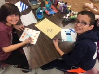Fourth Grade Art class dog projects