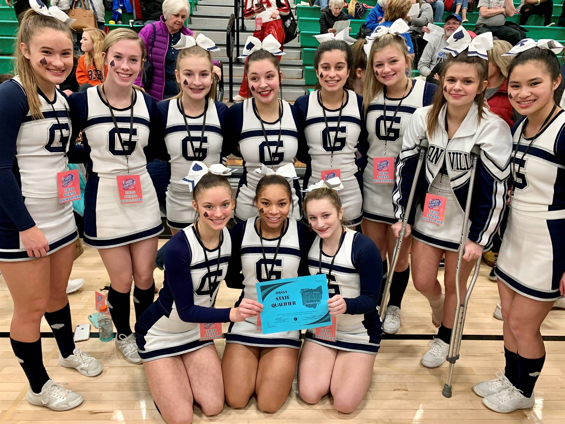 2020 Granville Competition Cheerleaders