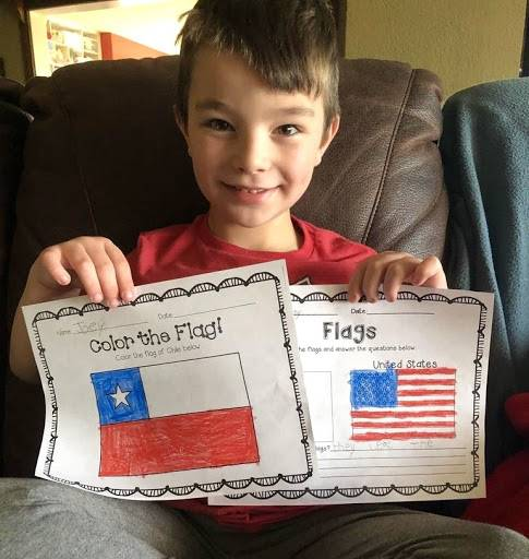 GES remote learners created projects in Global Language class
