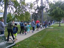 Parents & Students Walk to GES